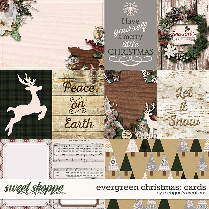 Evergreen Christmas: Cards by Meagan's Creations