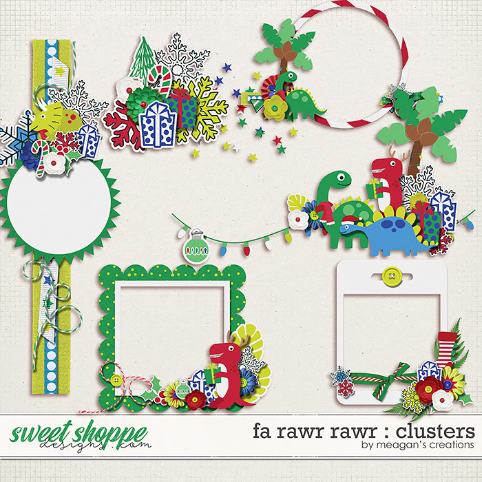 Fa Rawr Rawr : Clusters by Meagan's Creations