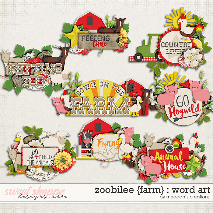 Zoobilee {Farm} : Word Art by Meagan's Creations