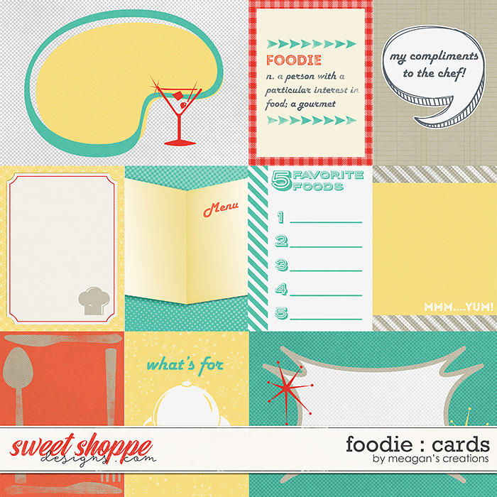 Foodie : Cards by Meagan's Creations