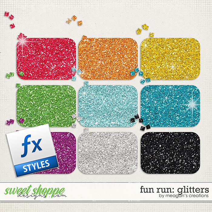 Fun Run Glitters by Meagan's Creations