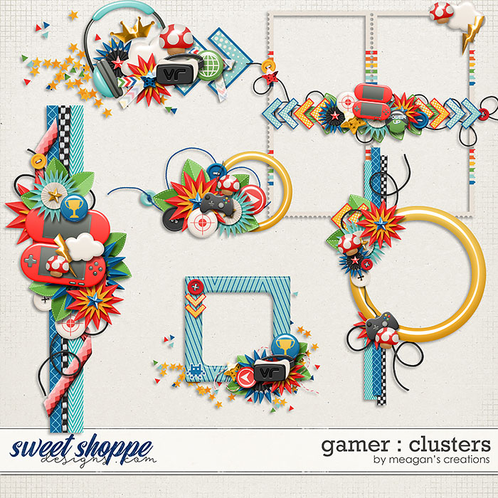 Gamer: Clusters by Meagan's Creations