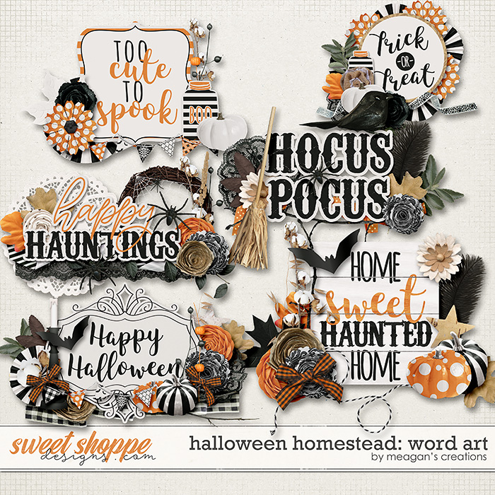 Halloween Homestead: Word Art by Meagan's Creations