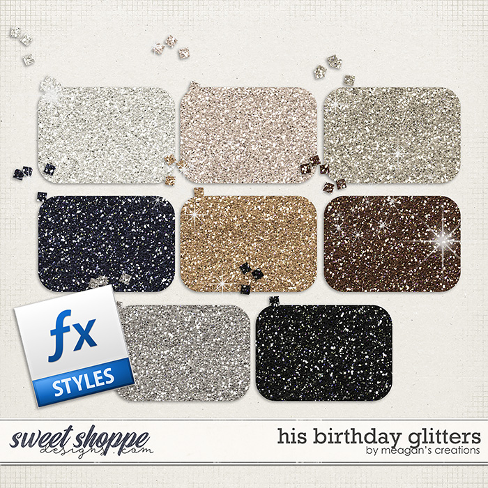 His Birthday Glitters by Meagan's Creations