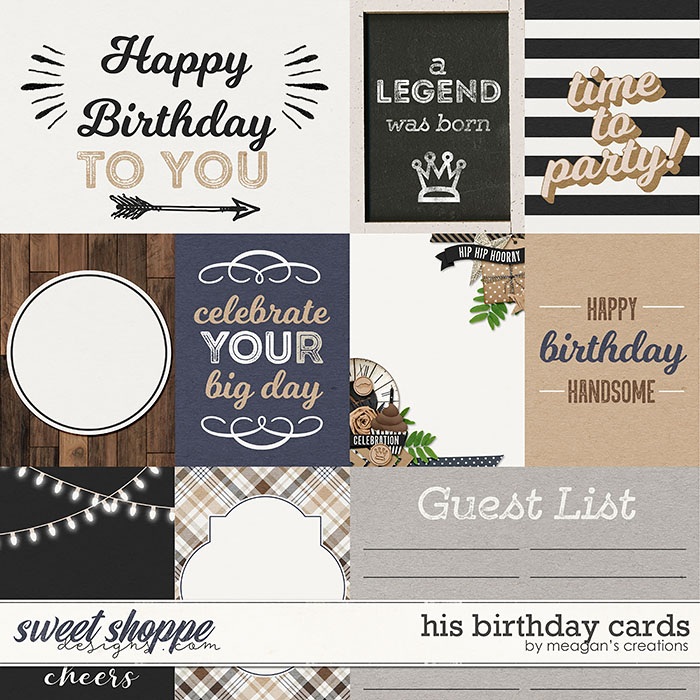 His Birthday Cards by Meagan's Creations