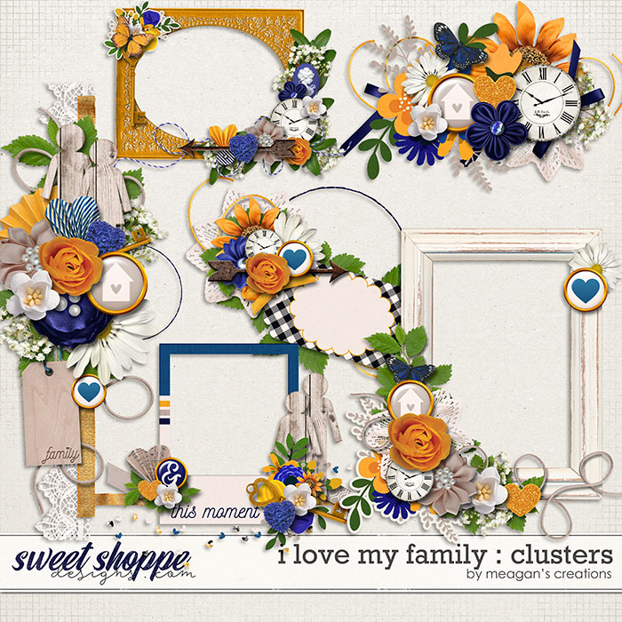 I Love My Family: Clusters by Meagan's Creations