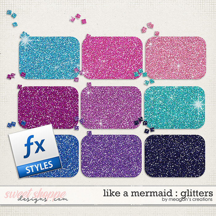 Like a Mermaid : Glitters by Meagan's Creations