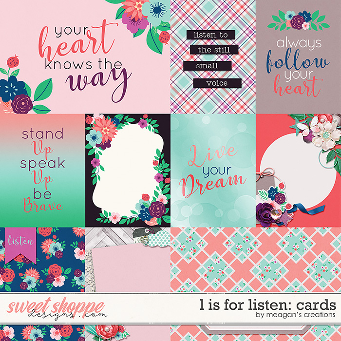 L is for Listen: Cards by Meagan's Creations