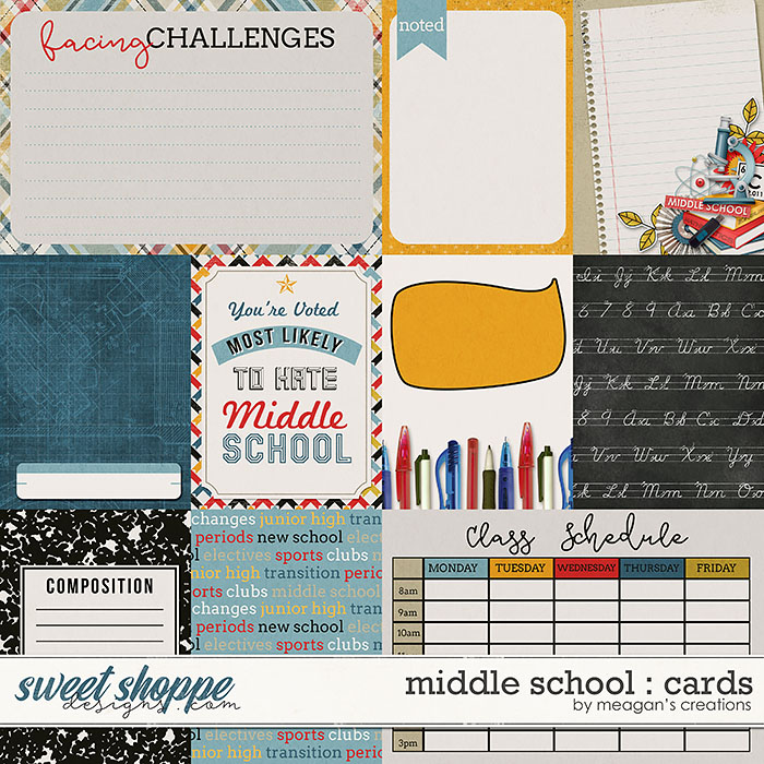 Middle School : Cards by Meagan's Creations