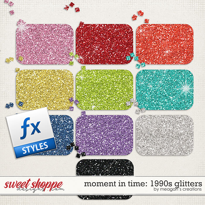 Moment in Time: 1990s Glitters by Meagan's Creations