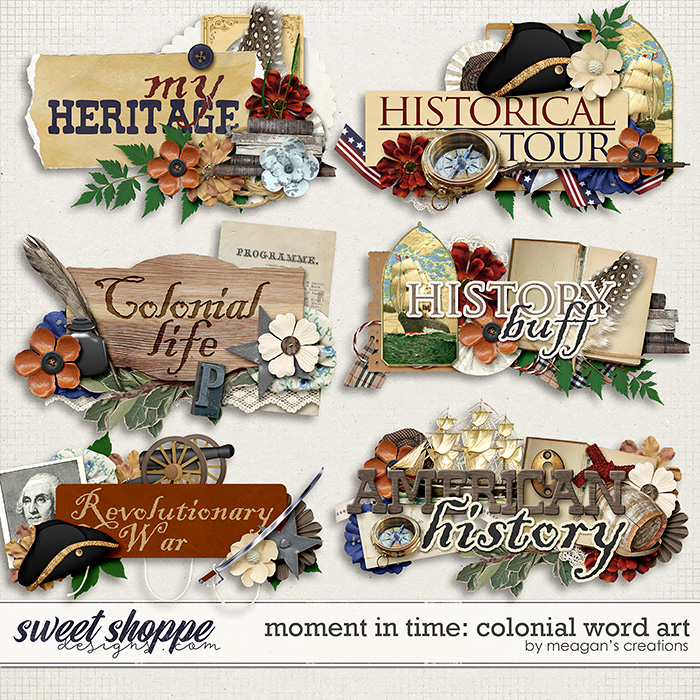 Moment in Time: Colonial Word Art by Meagan's Creations