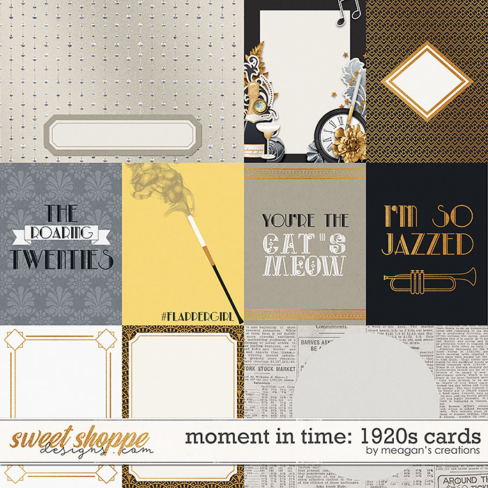 Moment in Time: 1920s Cards by Meagan's Creations