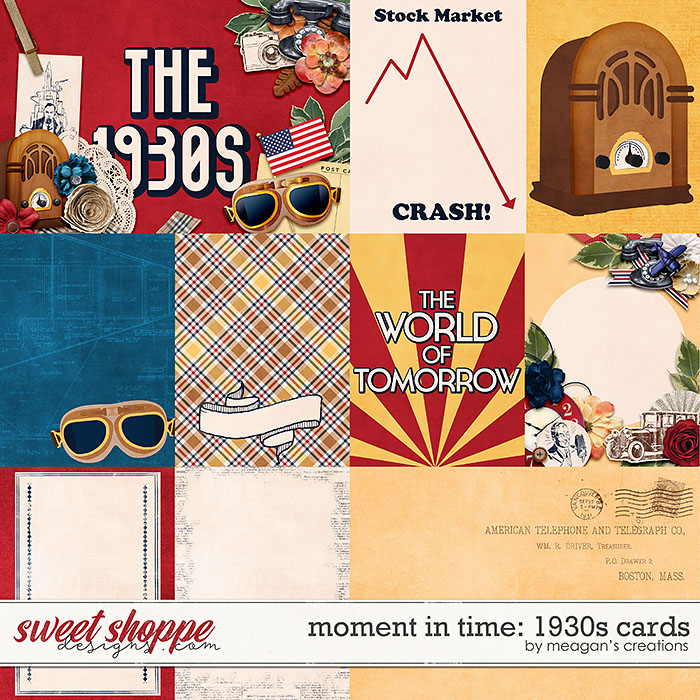 Moment in Time: 1930s Cards by Meagan's Creations