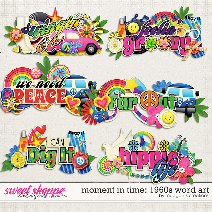 Moment in Time: 1960s Word Art by Meagan's Creations