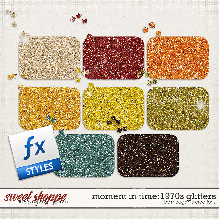Moment in Time: 1970s Glitters by Meagan's Creations