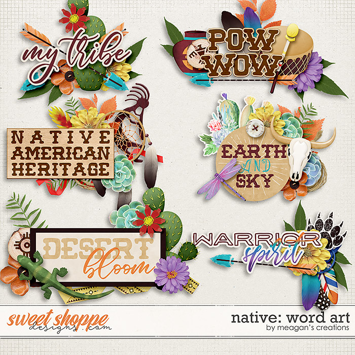 Native: Word Art by Meagan's Creations
