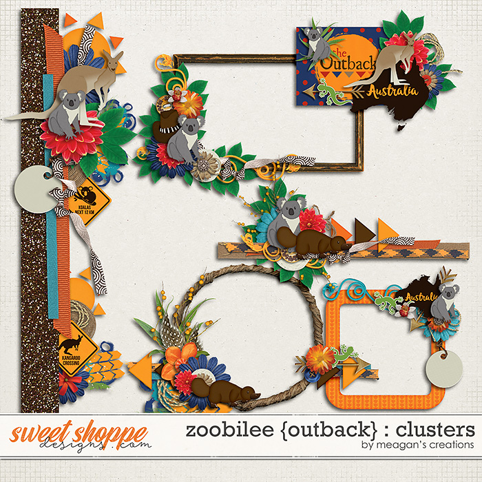 Zoobilee {Outback} : Clusters by Meagan's Creations