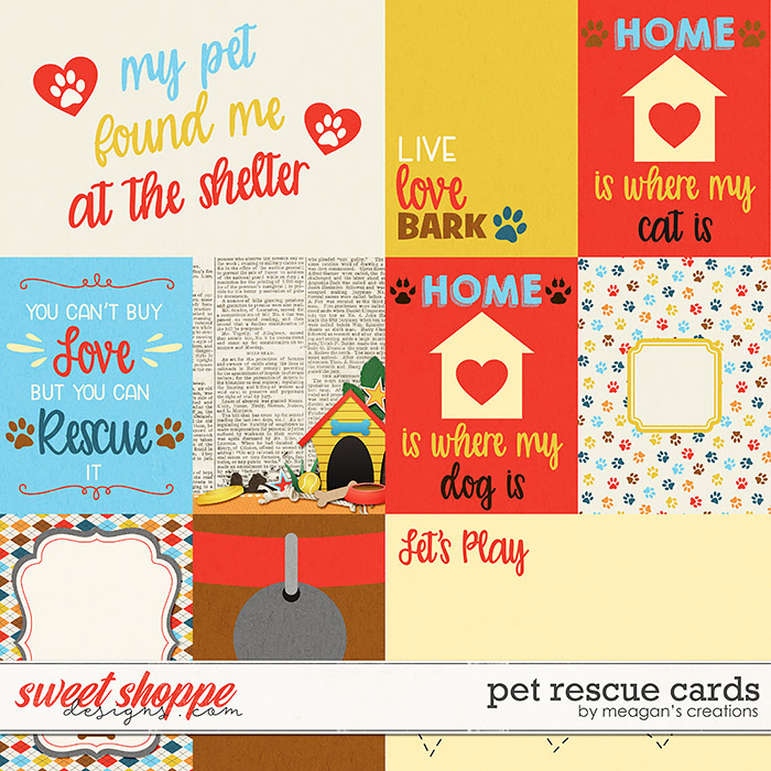 Pet Rescue Cards by Meagan's Creations