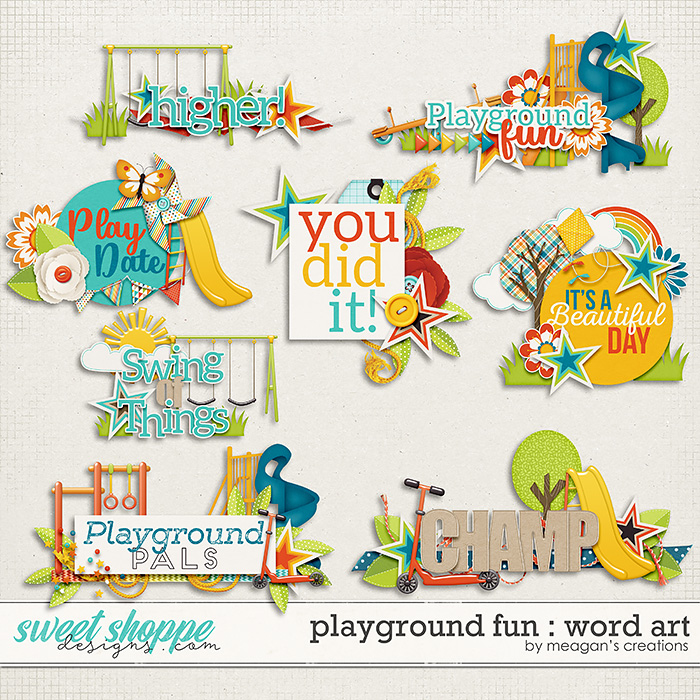 Playground Fun: Word Art by Meagan's Creations