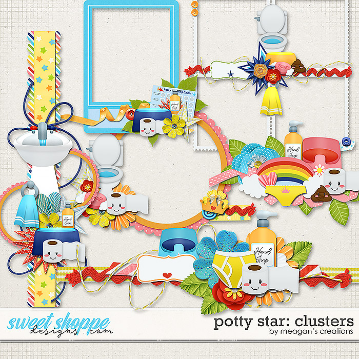 Potty Star Clusters by Meagan's Creations