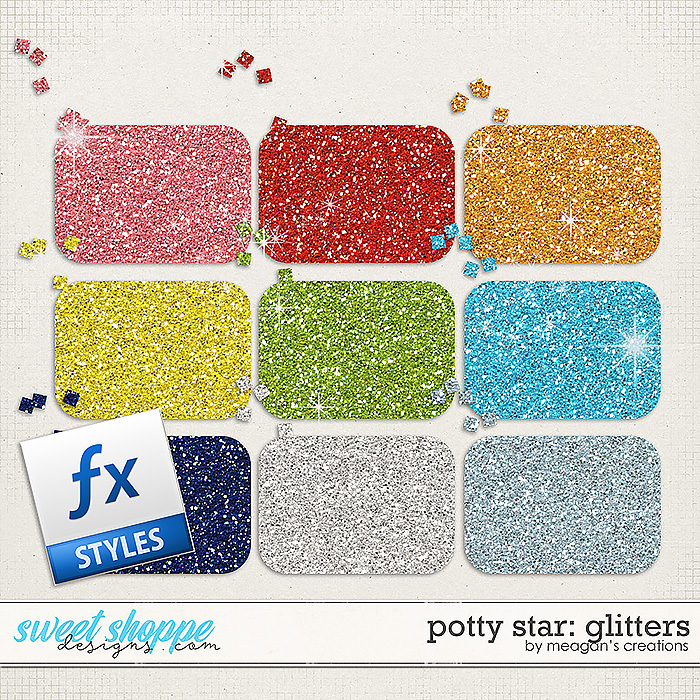 Potty Star Glitters by Meagan's Creations