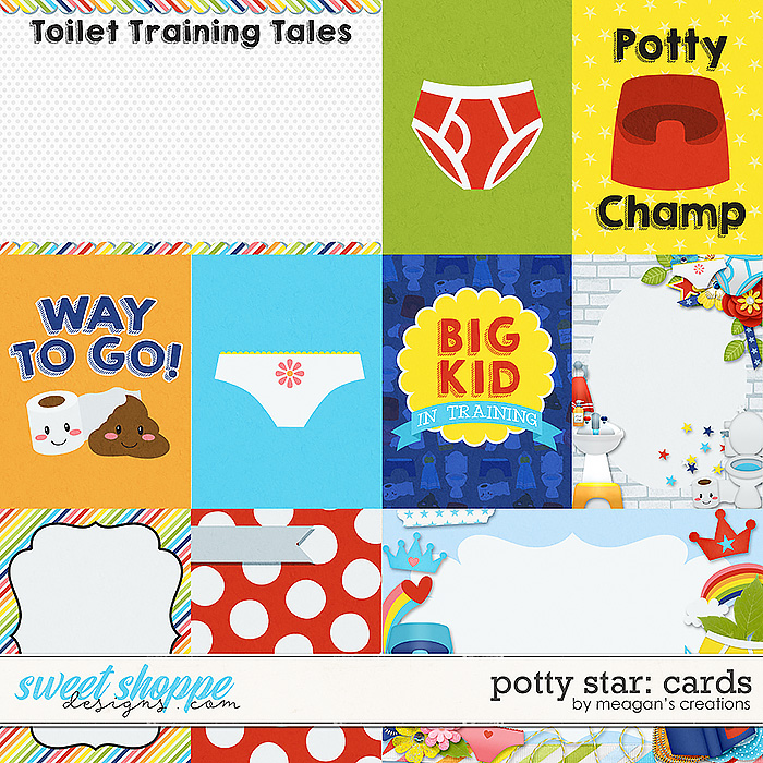 Potty Star Cards by Meagan's Creations