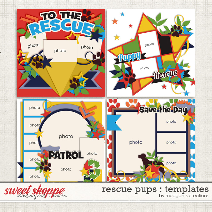 Rescue Pups : Templates by Meagan's Creations