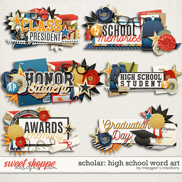 Scholar: High School Word Art by Meagan's Creations