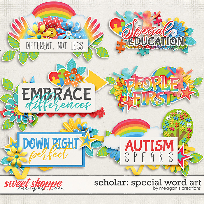 Scholar: Special Word Art by Meagan's Creations