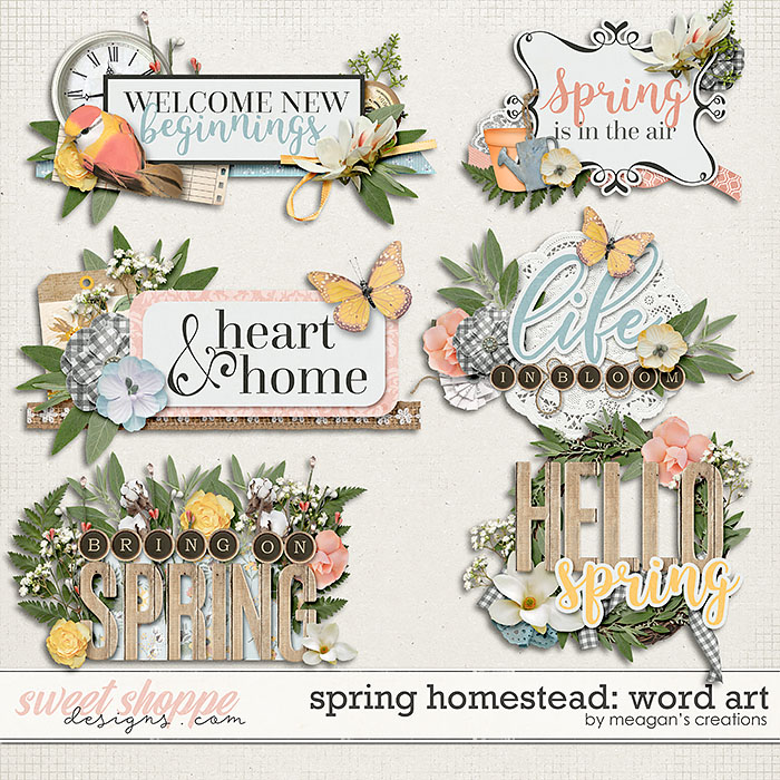 Spring Homestead: Word Art by Meagan's Creations