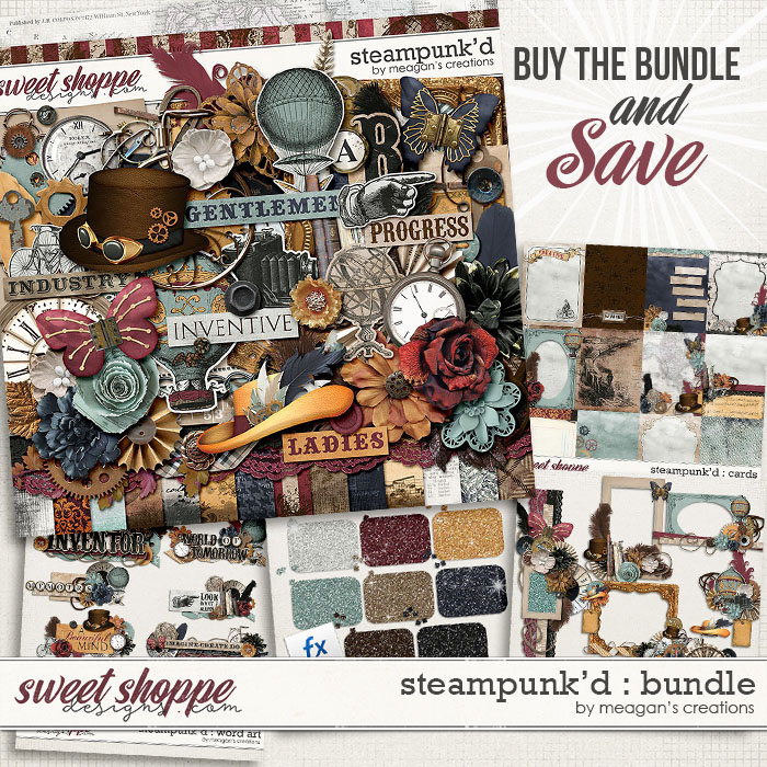 Steampunk'd : Collection Bundle by Meagan's Creations