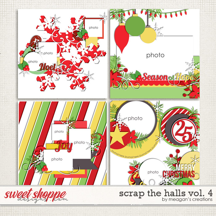 Scrap the Halls Vol. 4 by Meagan's Creations