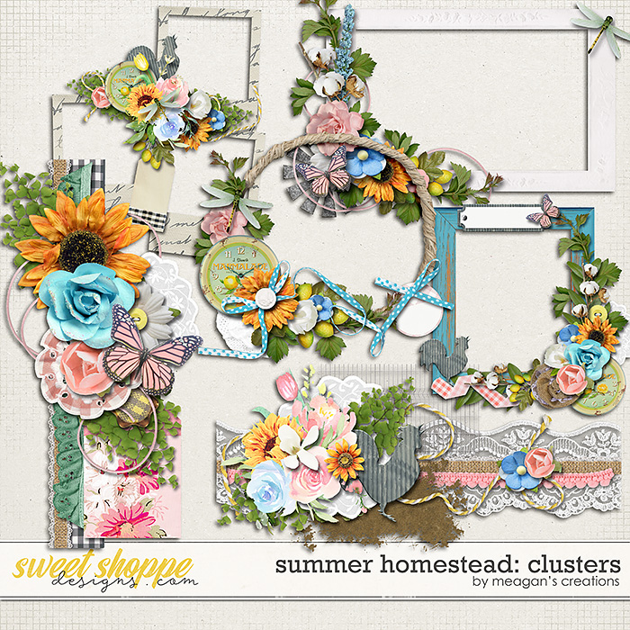 Summer Homestead: Clusters by Meagan's Creations