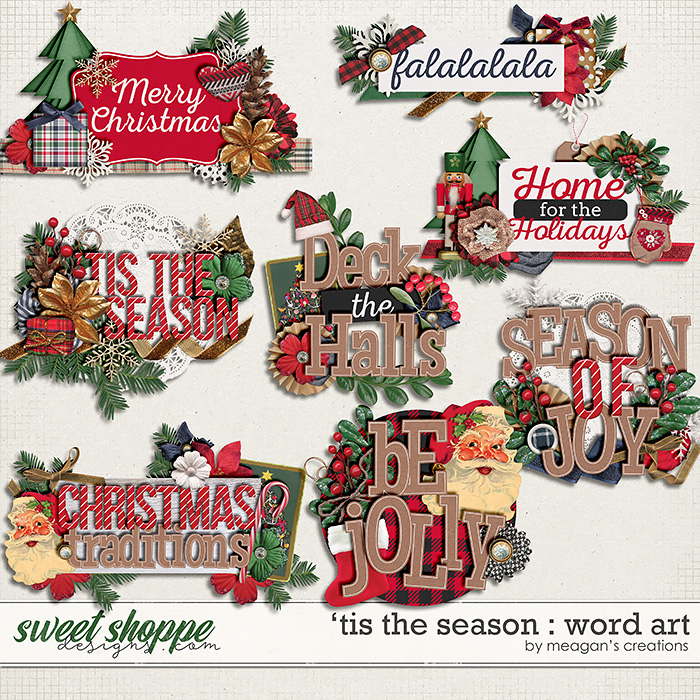 'Tis the Season : Word Art by Meagan's Creations