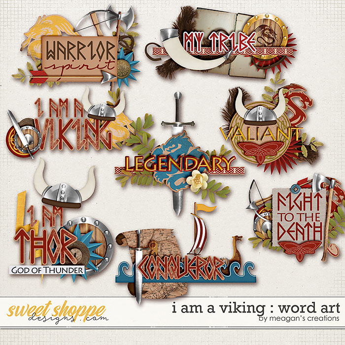 I Am A Viking : Word Art by Meagan's Creations