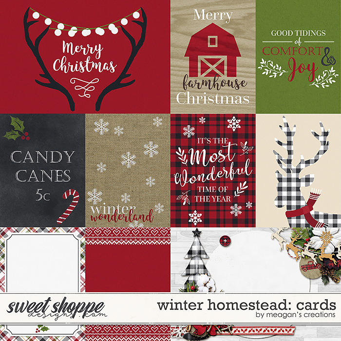 Winter Homestead: Cards by Meagan's Creations