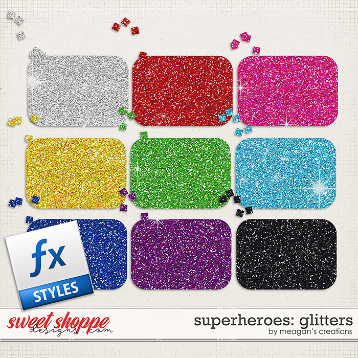 Superheroes: Glitters by Meagan's Creations