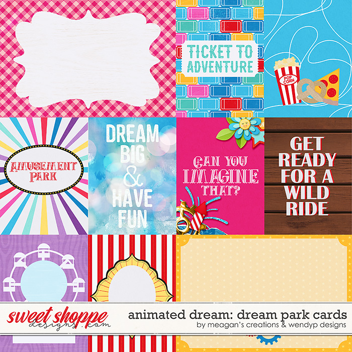 Animated dream: dream park - cards by Meagan's Creations & WendyP Designs