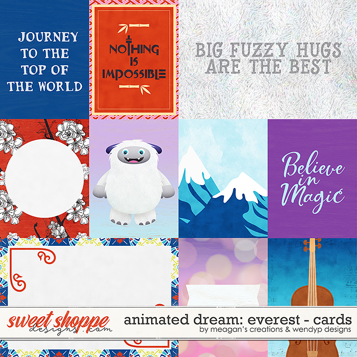 Animated Dream: Everest - cards by Meagan's Creations & WendyP Designs