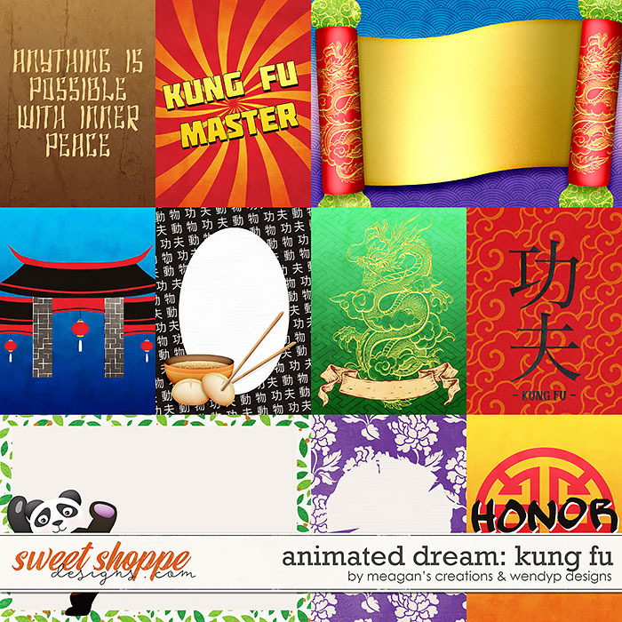 Animated Dream: Kung Fu Cards by Meagan's Creations & WendyP Designs