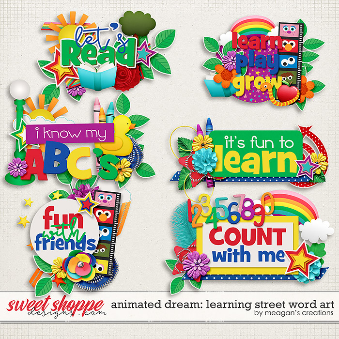 Animated Dream: Learning Street Word Art by Meagan's Creations