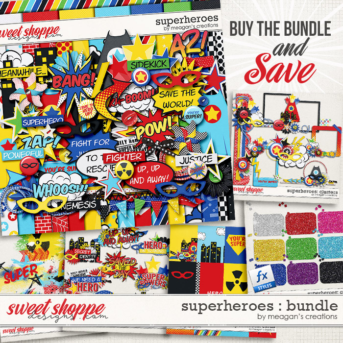 Superheroes : Collection Bundle by Meagan's Creations