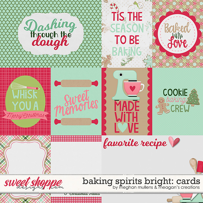 Baking Spirits Bright-Card Pack by Meagan's Creations and Meghan Mullens