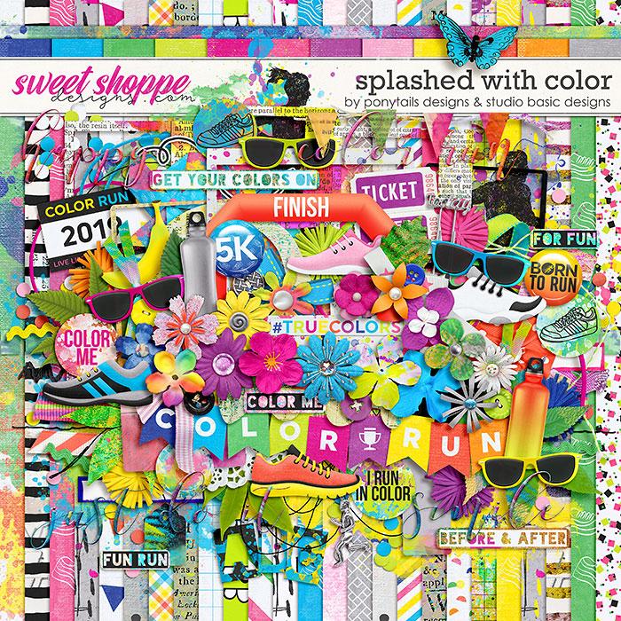 Splashed With Color Kit by Ponytails Designs & Studio Basic