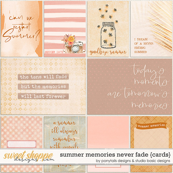Summer Memories Never Fade Cards by Ponytails Designs & Studio Basic