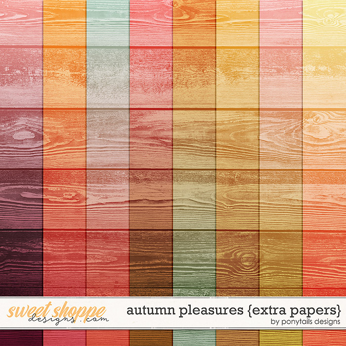 Autumn Pleasures Extra Papers by Ponytails