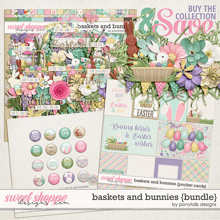 Baskets and Bunnies Bundle by Ponytails