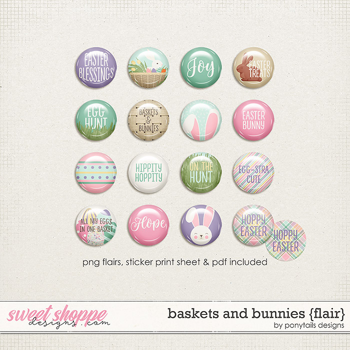 Baskets and Bunnies Flair by Ponytails
