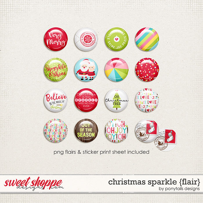 Christmas Sparkle Flair by Ponytails