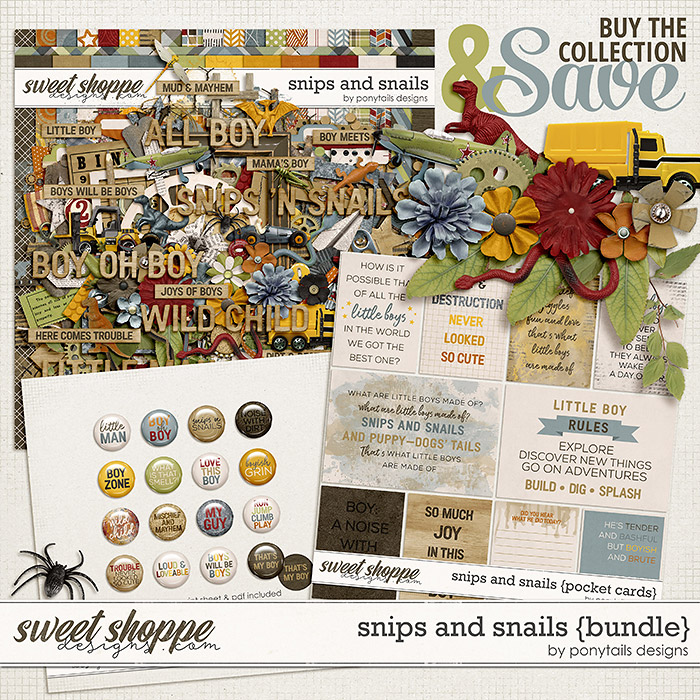 Snips and Snails Bundle by Ponytails
